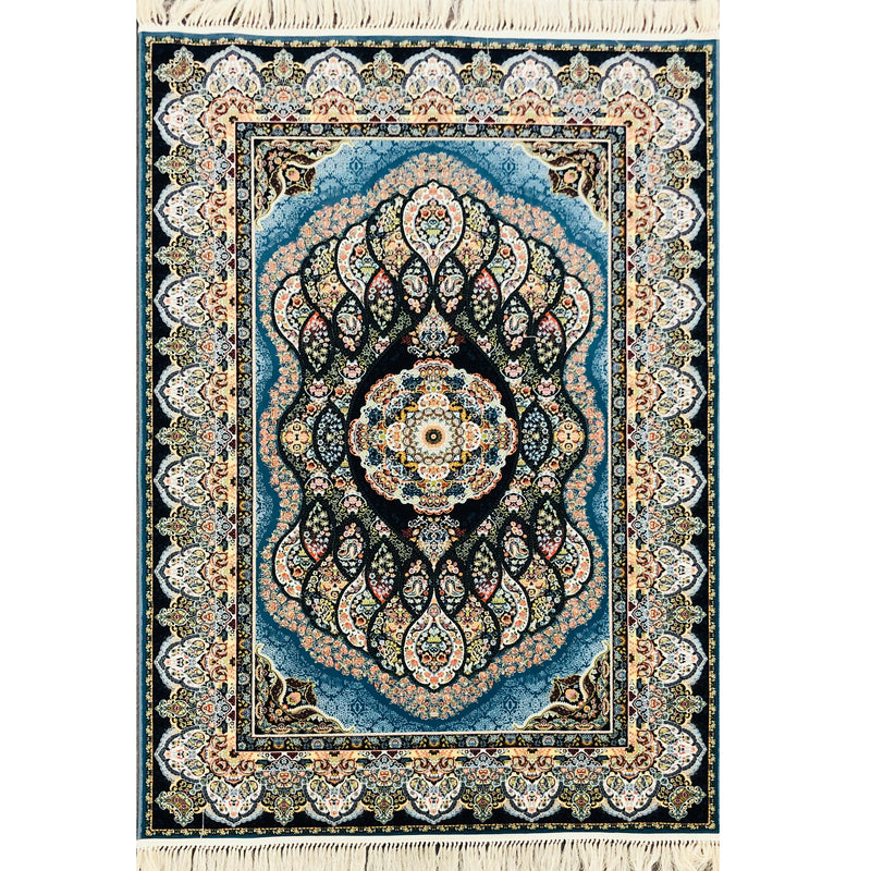 A RUG | ZARTOSHT 3780 DARK BLUE | Quality Rugs and Furniture