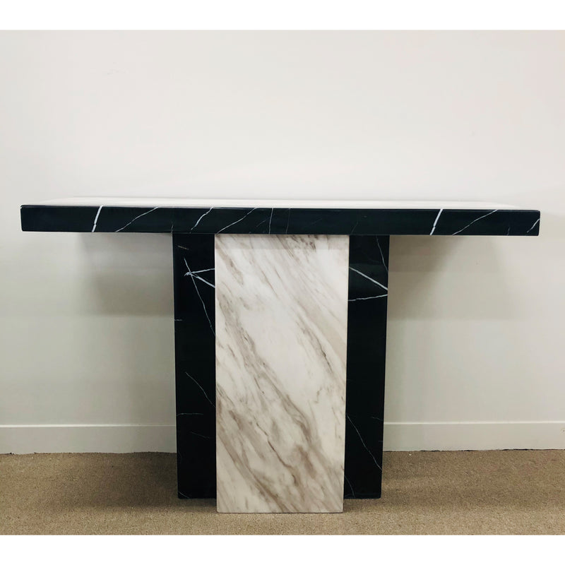 A Console Table | NEWCASTLE CONSOLE TABLE BLACK AND WHITE | Quality Rugs and Furniture