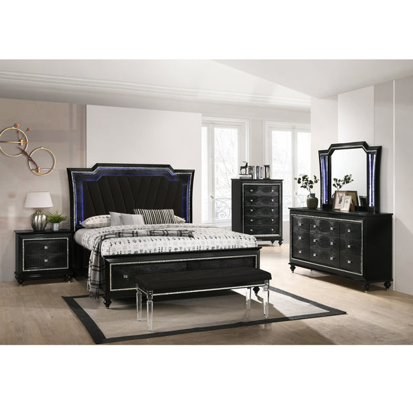 A BEDDING | VICTORIA KING BED BLACK | Quality Rugs and Furniture
