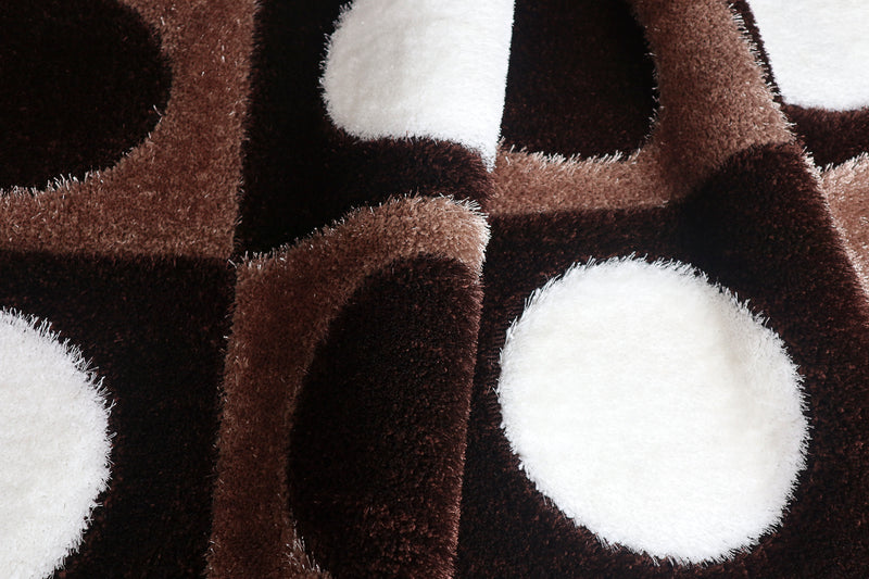 A RUG | CENTEL SHAGGY B115 BROWN | Quality Rugs and Furniture