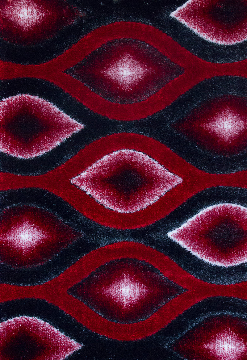 A RUG | FASHION SHAGGY B296 RED | Quality Rugs and Furniture