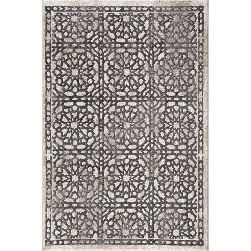 A RUG | FRUZAN 2030 WHITE/D.GREY | Quality Rugs and Furniture