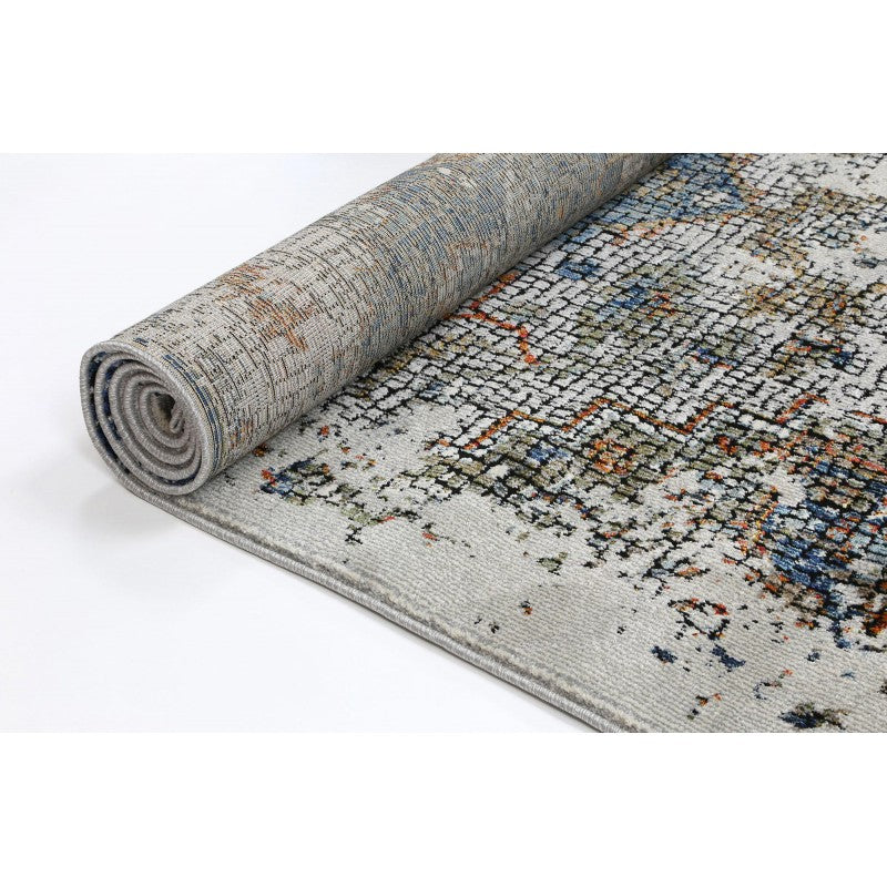 A RUG | MOZAIK 2524B GREY/TURQUOISE | Quality Rugs and Furniture