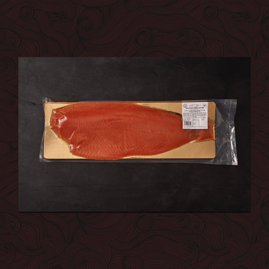Whole Sliced Side of Goldstein Smoked Salmon (approx 1kg) - KOSHER FOR PASSOVER