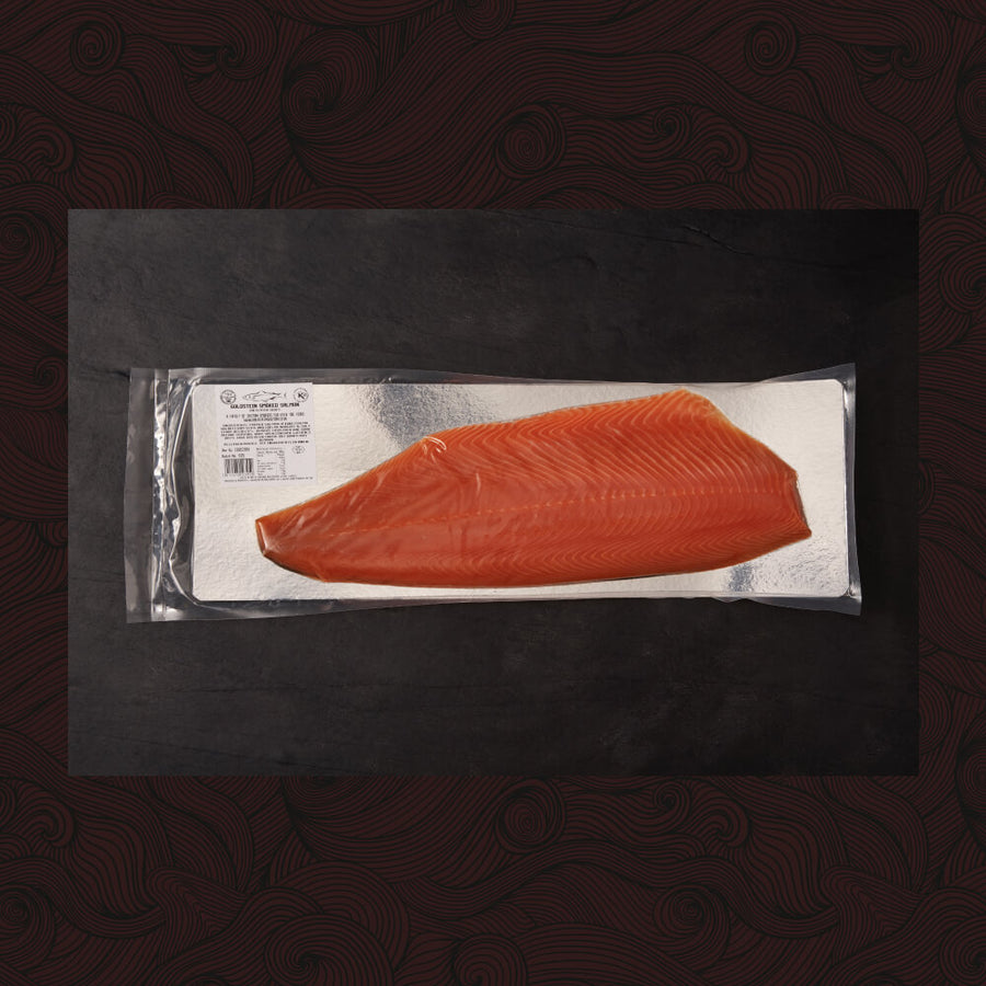 Large Un-Sliced Side of Goldstein Smoked Salmon (approx 1.3-1.5kg) - Oily - KOSHER FOR PASSOVER