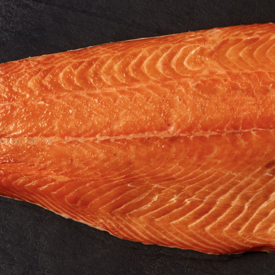 Whole Side of Goldstein's Hot Smoked Salmon (approx 900g)