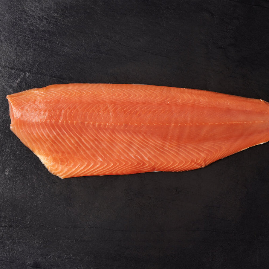 Large Un-Sliced Side of Goldstein Smoked Salmon (approx 1.3-1.5kg) - Oily