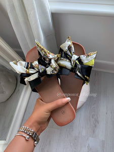 BOW SCARF SANDALS