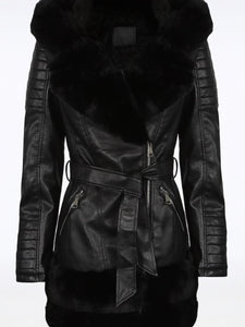 RHIANNON FUR TRIM JACKET