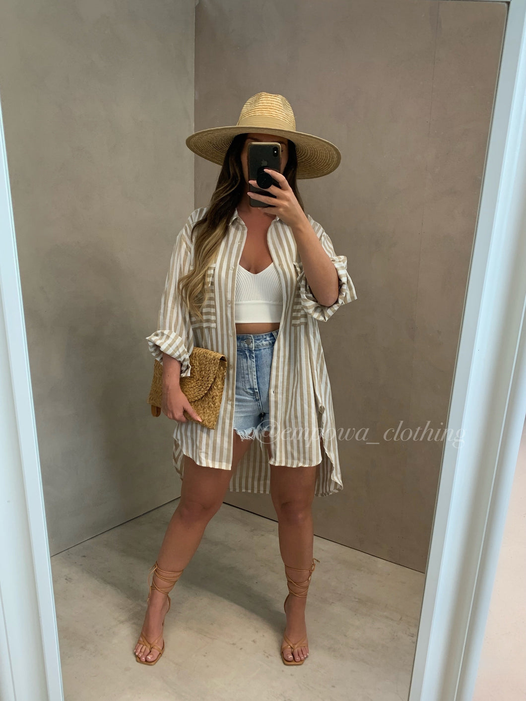 MADDY OVERSIZED STRIPE SHIRT