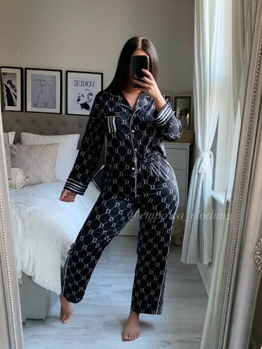 DD SILK PRINTED PJ TROUSERS SET