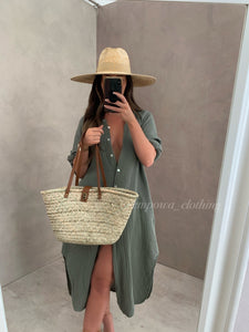 WICKER TOTE BAG