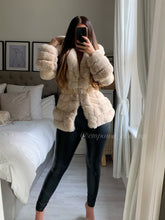 Load image into Gallery viewer, RENAY FAUX FUR TRIM PUFFER JACKET