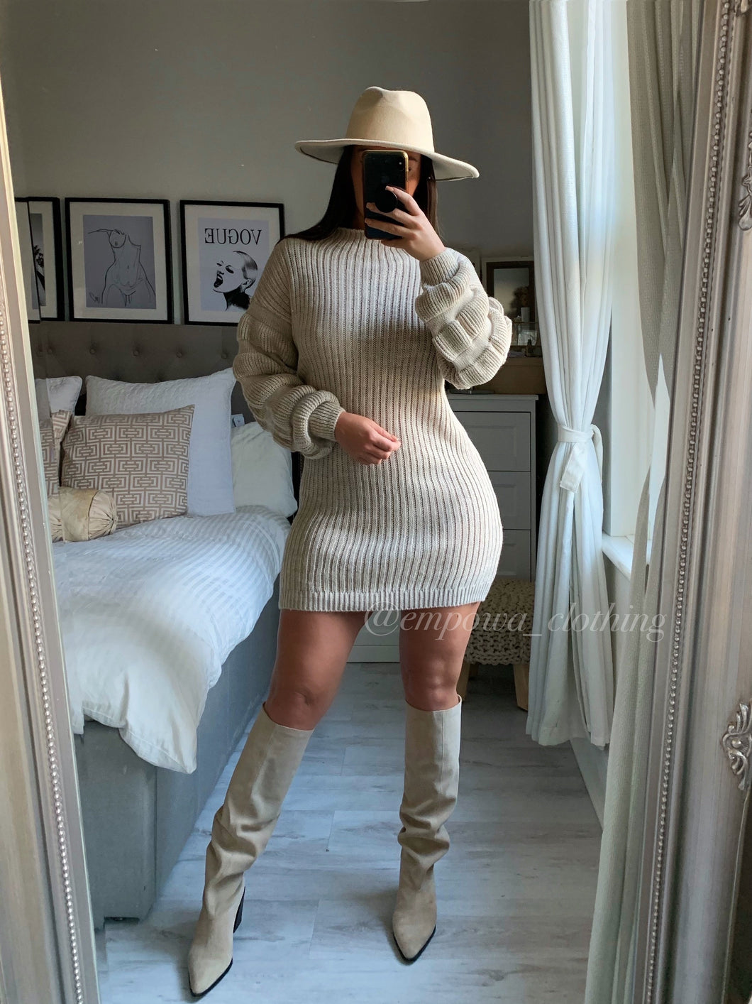 JENNI RIBBED JUMPER DRESS