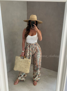 TOP HANDLE WICKER TOTE BAG