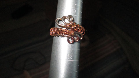 Woven Copper Ring, fits sizes 7-9