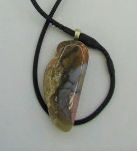 Blue Mountain Jasper (includes both a sterling silver chain and a black silicone cord)