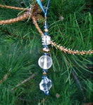 Suncatcher (Blue, crystal, and gold)