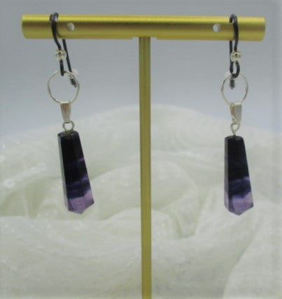 "Plush, 2"" (natural fluorite & sterling silver)"