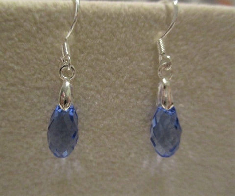 Swarovski and Sterling Droplets, 1""