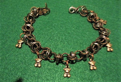"Mixed metal ""comfort"" bracelet, 7.5"" or less"