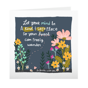 Kind and Safe Place - Greeting Cards - 5x5 Inch Square