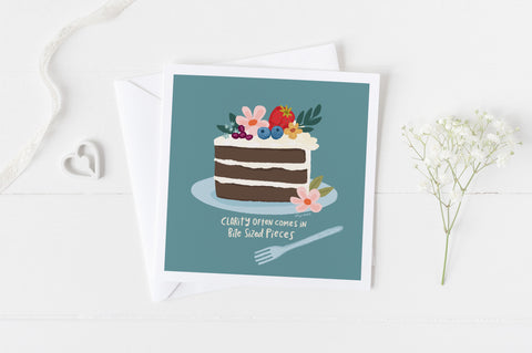 A Piece Of Cake - Greeting Cards - 5x5 Inch Square