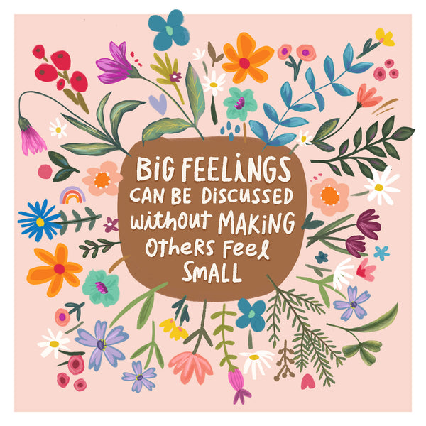 Big Feelings - Greeting Cards -  5x5 Inch Square