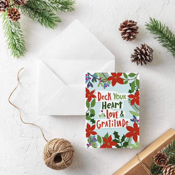 Deck Your Heart - Holiday Cards -  5x7 Inch