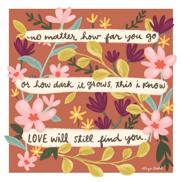 Love will find you - Greeting Cards -  5x5 Inch Square