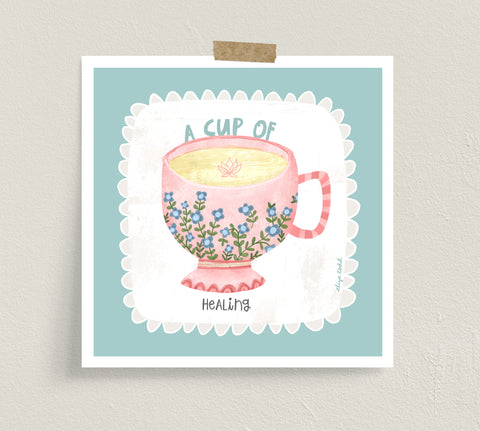 A Cup of Healing - Fine Art Prints