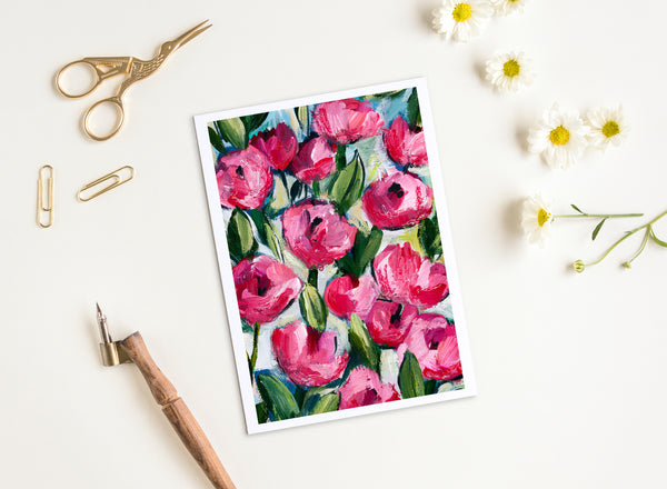 Abundant Roses - Greeting Cards - 5x7 inch