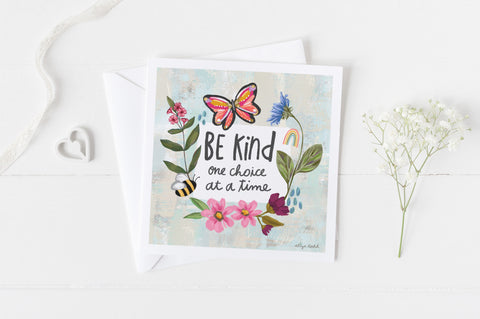 Be Kind - Greeting Cards -  5x5 Inch Square