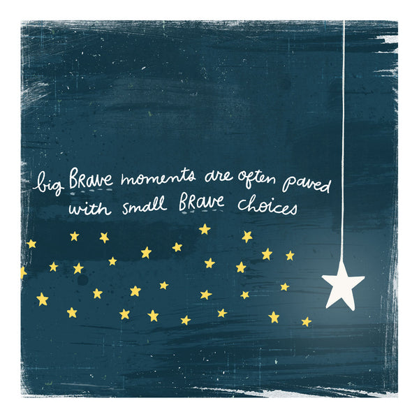 Brave Moments - Greeting Cards -  5x5 Inch Square