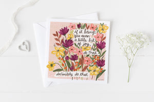 Little Bit of Joy - Greeting Cards -  5x5 Inch Square