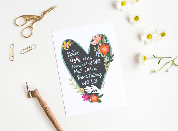 Let Hope In - Greeting Cards - 5x7 inch