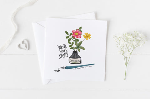 Write Your Story - Greeting Cards -  5x5 Inch Square