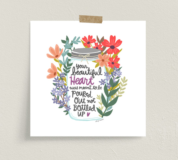 Fine art prints by Eliza Todd featuring bright florals and a mason jar - APeaceofWerk.com