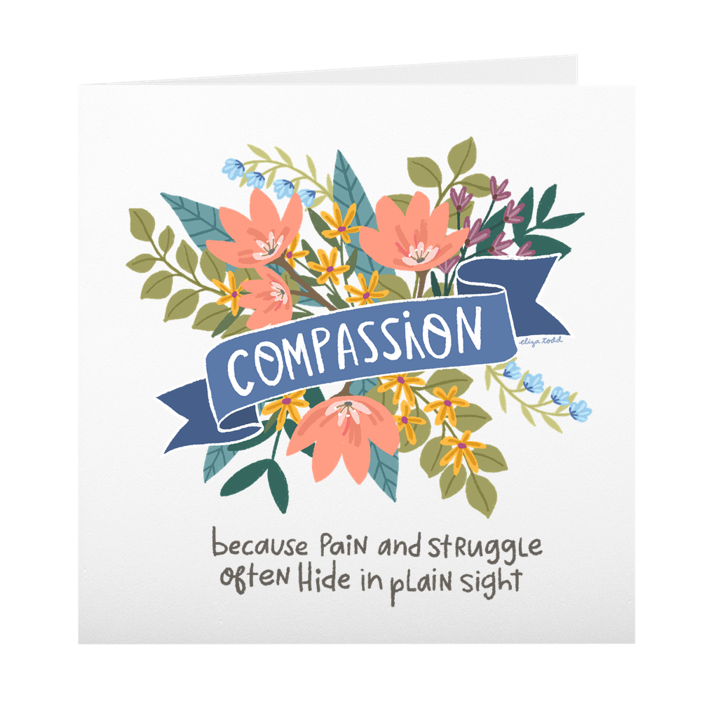 Compassion - Greeting Cards -  5x5 Inch Square