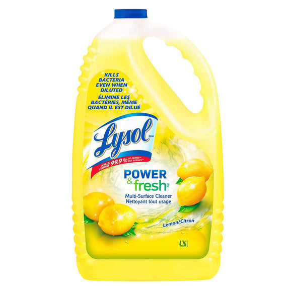 CPPESS Cleaners LYSOL 4.26L Lemon Scent All Purpose Disinfectant and Cleaner