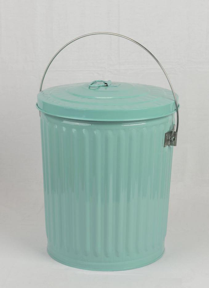 blue 10 gallon seed storage bin