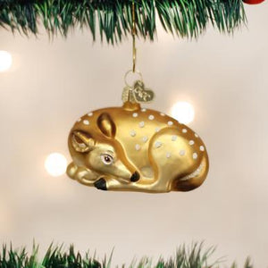 Fawn Christmas Ornament