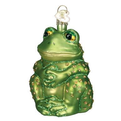 Sitting Frog Ornament Front Side View