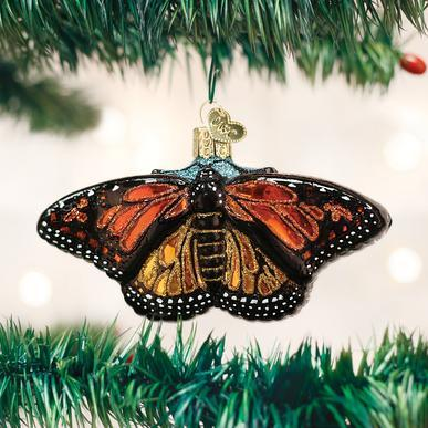 Monarch Butterfly Ornament on Tree
