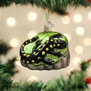 Salamander Ornament on Tree