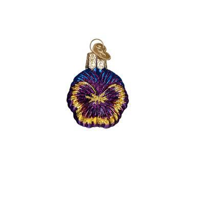 Mini Purple Pansy Ornament