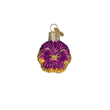 Mini Pink Pansy Ornament