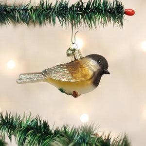 Black-Capped Chickadee on Tree Ornament