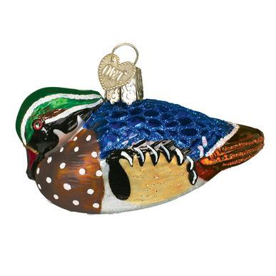 Wood Duck Ornament Left Side View