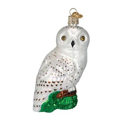 Great White Owl Ornament Right Side View